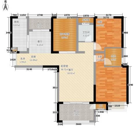 金科新大陆2室0厅1卫1厨113.00㎡户型图