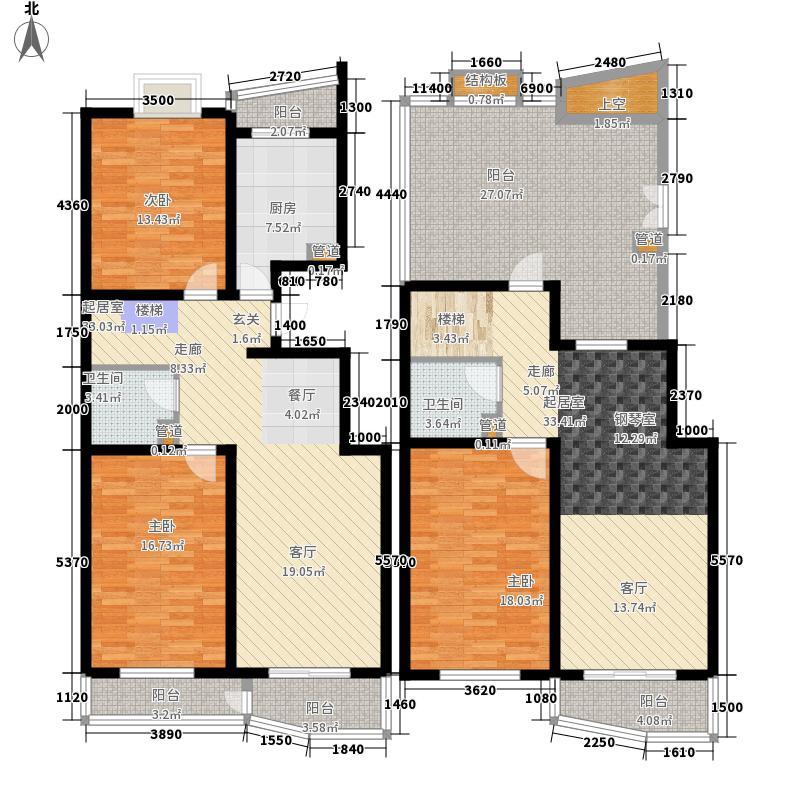 北京好漾197.66㎡A5、6、11、12户型3室2厅2卫1厨
