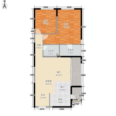 皇都花园2期2室0厅2卫0厨141.00㎡户型图