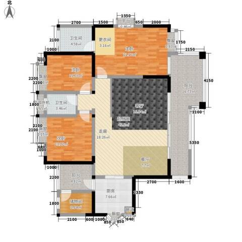 卓越美丽山水3室0厅2卫1厨187.00㎡户型图