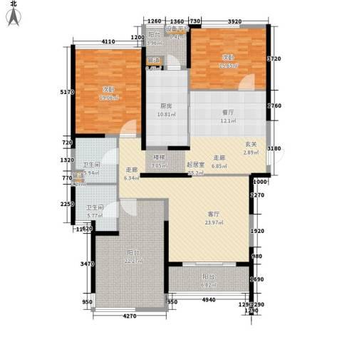 皇都花园2期2室0厅2卫1厨164.02㎡户型图