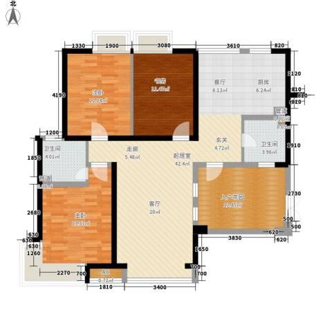 格林生活坊3室0厅2卫0厨140.00㎡户型图