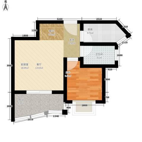 公园壹号1室0厅1卫1厨52.00㎡户型图