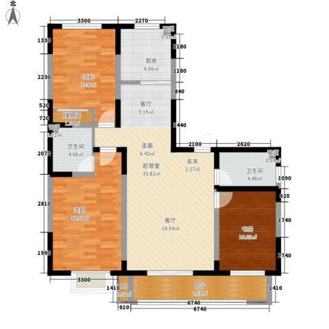 天赐园(和平区)3室0厅2卫1厨145.00㎡户型图