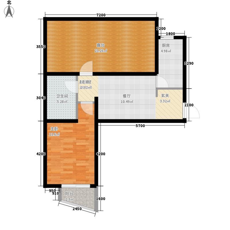 鸥洲56.39㎡小高层DD户型1室2厅