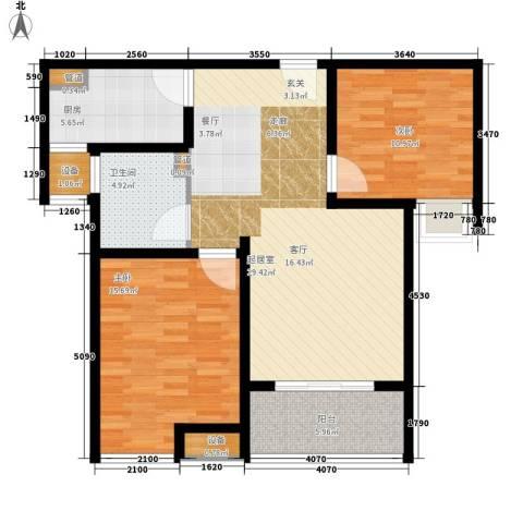 雨润新城2室0厅1卫1厨85.00㎡户型图