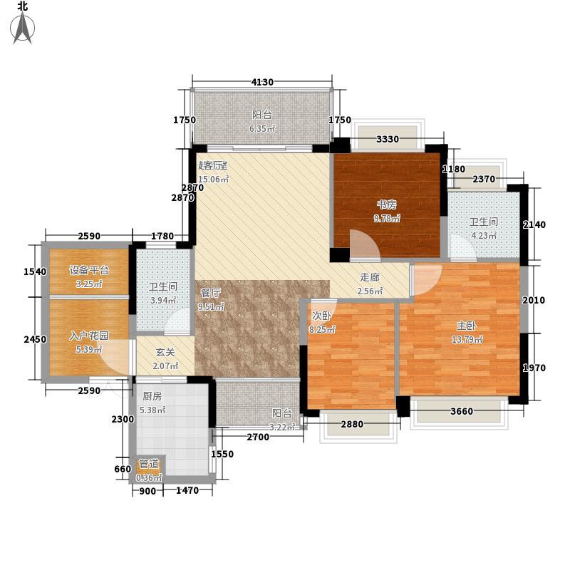 金鼎公园尚114.00㎡幸福花园户型3室2厅