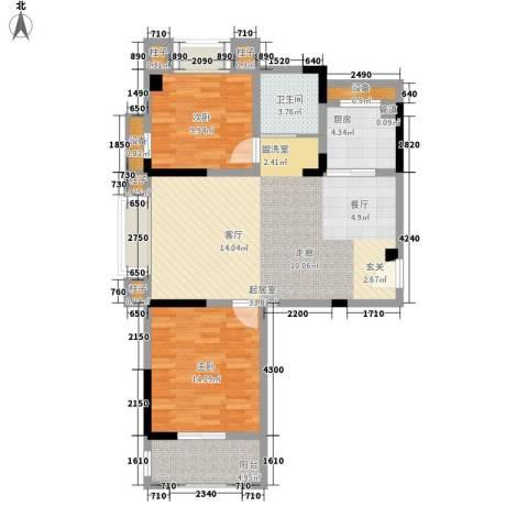 名门世家2室0厅1卫1厨91.00㎡户型图