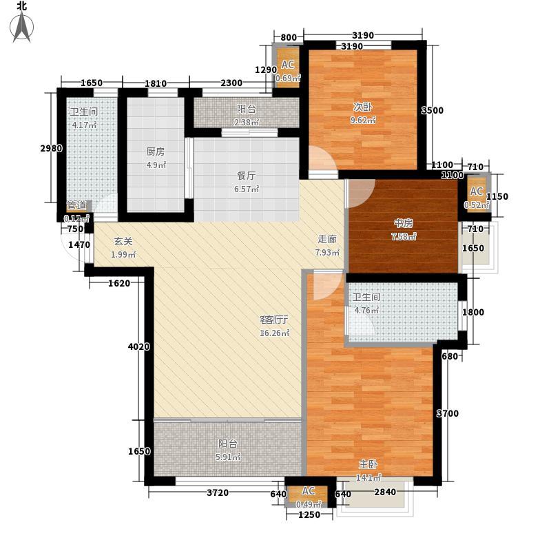 银丰唐郡133.00㎡10#楼B4户型3室2厅