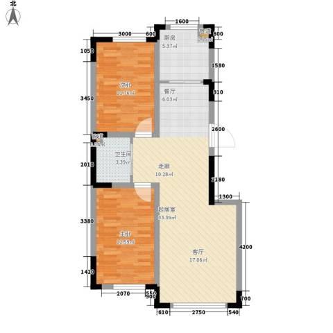 嘉元十方界2室0厅1卫1厨99.00㎡户型图