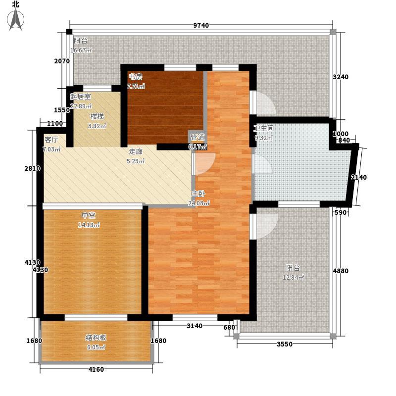 万源城乐斯生活会馆243.00㎡雍容四房2层户型4室3厅3卫