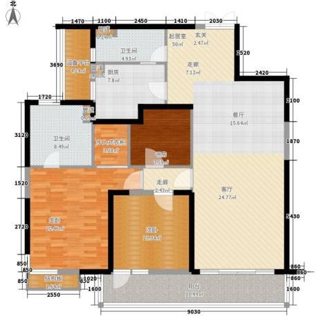 皇都花园2期3室0厅2卫1厨154.36㎡户型图