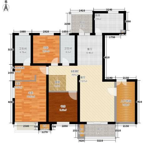 万源城乐斯生活会馆3室0厅2卫1厨240.00㎡户型图