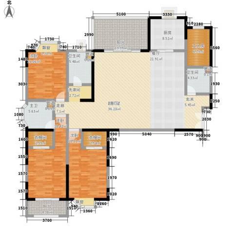 大舜天成3室0厅2卫1厨224.00㎡户型图