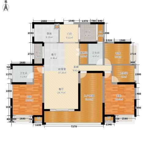 融科东南海二期3室0厅3卫1厨163.00㎡户型图