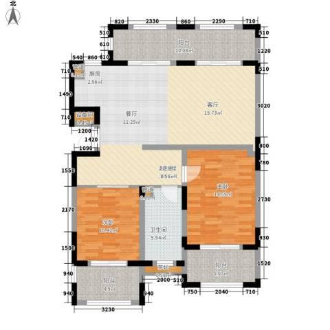 金泰・南燕湾2室0厅1卫0厨131.00㎡户型图