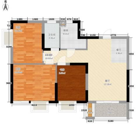 大唐新干线3室0厅1卫1厨97.00㎡户型图