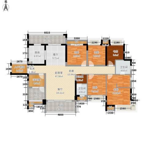 融科东南海二期5室0厅2卫1厨175.00㎡户型图