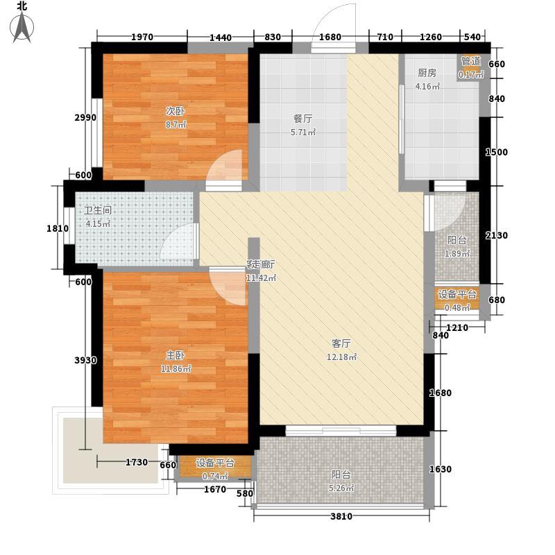 蓉上坊85.33㎡蓉上坊户型图A2-2型2室2厅1卫1厨户型2室2厅1卫1厨