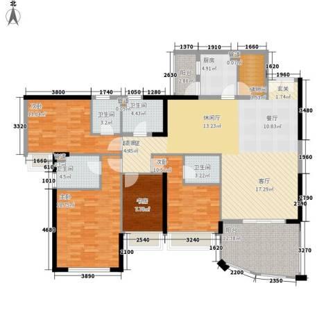 金月湾花园4室0厅4卫1厨157.00㎡户型图