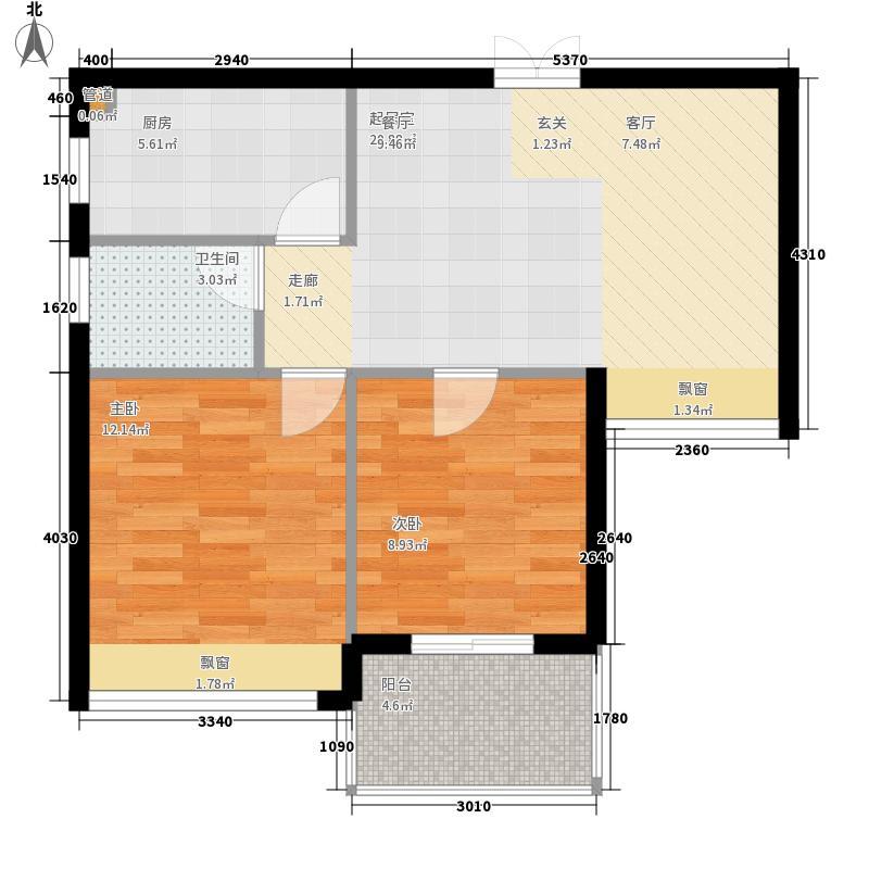 岭地金居69.00㎡岭地金居户型图一期B-2户型2室2厅1卫户型2室2厅1卫