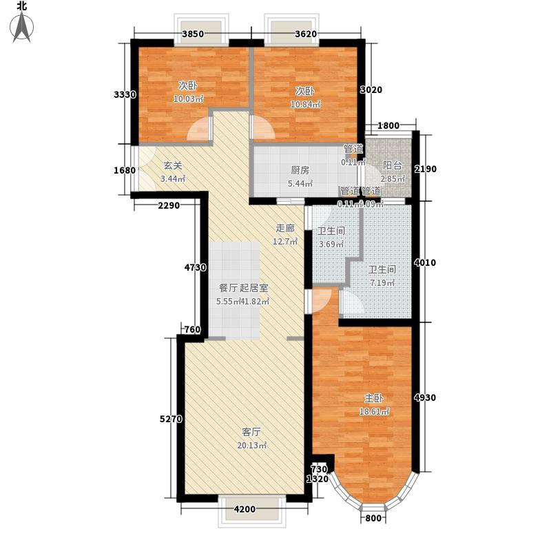 鹿港嘉苑二期4号楼F2户型