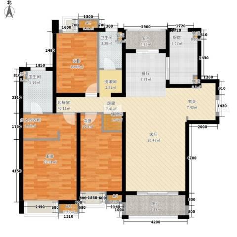 龙升豪苑3室0厅2卫1厨158.00㎡户型图
