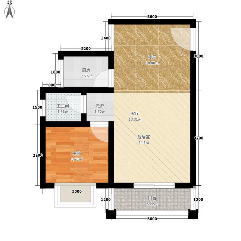 公园壹号55.59㎡公园壹号户型图a户型图1室1厅1卫1厨户型1室1厅1卫1厨