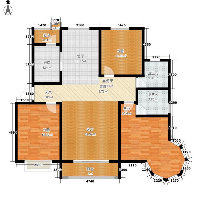 盛世・龙凤花苑133.46㎡盛世・龙凤花苑E1户型3室2厅2卫1厨133.46㎡户型3室2厅2卫1厨