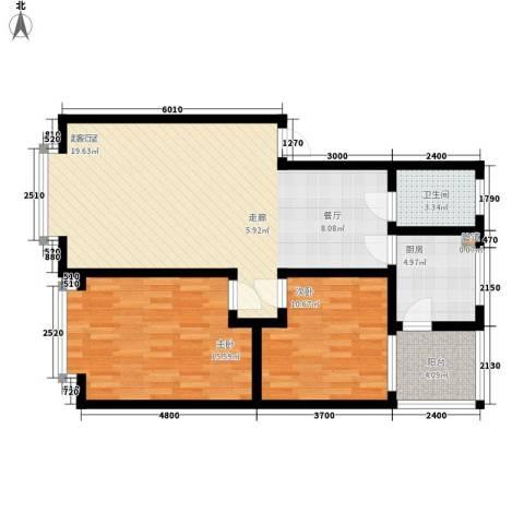 增江街社区2室0厅1卫1厨165.00㎡户型图