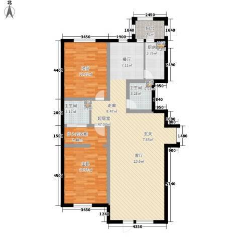金嘉水岸2室0厅2卫1厨105.31㎡户型图