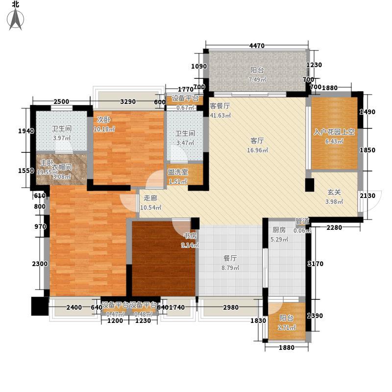 蓉上坊129.27㎡蓉上坊户型图A6-3型奇数层3室2厅2卫1厨户型3室2厅2卫1厨