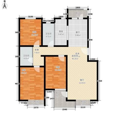 宝翠花都探景园3室0厅2卫1厨149.00㎡户型图
