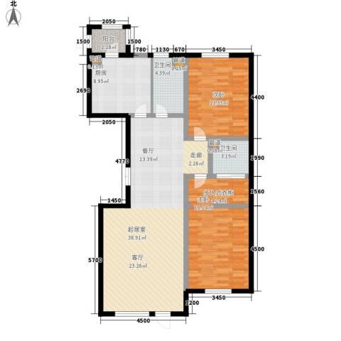 金嘉水岸2室0厅2卫1厨102.45㎡户型图