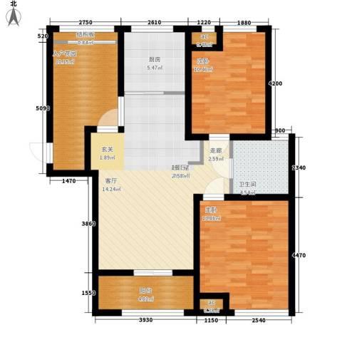 绿地公园壹品2室0厅1卫1厨90.00㎡户型图