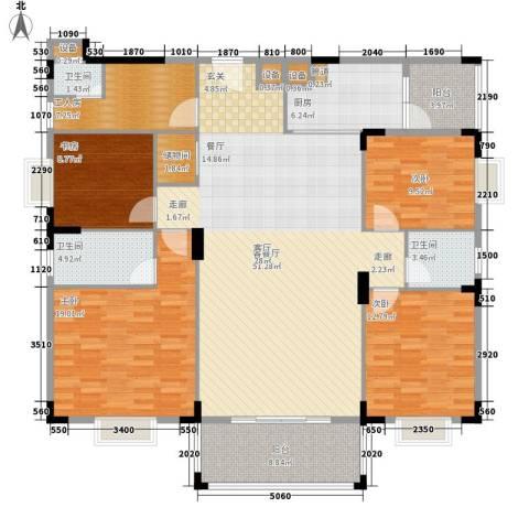 宏新富苑4室1厅3卫1厨193.00㎡户型图
