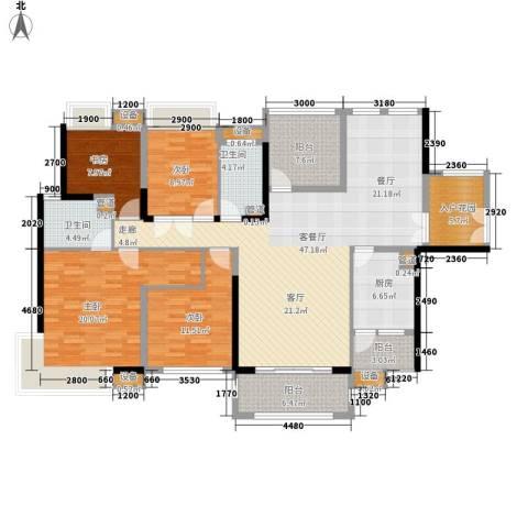 中信凯旋城别墅4室1厅2卫1厨164.00㎡户型图