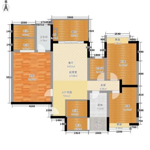 里水第一城1室0厅2卫1厨117.00㎡户型图
