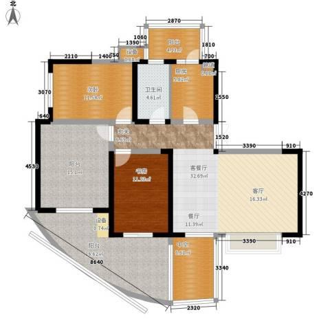 远大都市风景三期2室1厅1卫1厨109.22㎡户型图