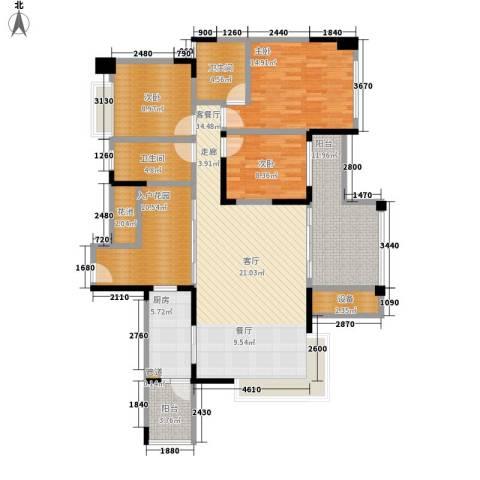 天一名居3室1厅2卫1厨131.00㎡户型图
