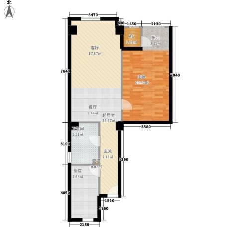 景泰翰林1室0厅1卫1厨94.00㎡户型图