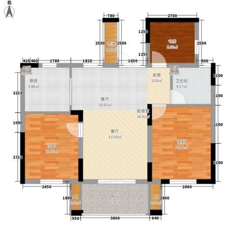宇恒明月星城3室0厅1卫1厨90.00㎡户型图