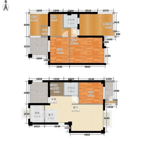大唐新干线3室0厅2卫1厨129.00㎡户型图