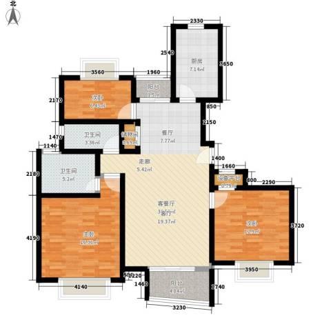 江南清漪园3室1厅2卫1厨110.00㎡户型图