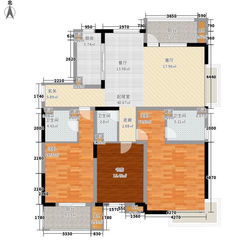 金银岛国际公寓143.00㎡C户型