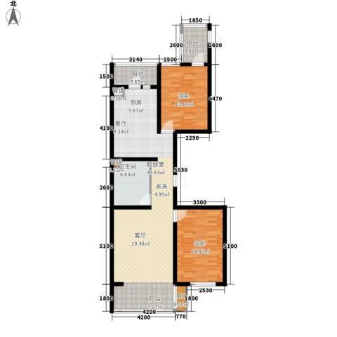 悦山国际2室0厅1卫0厨102.15㎡户型图