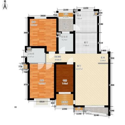 天嘉水晶城3室0厅2卫1厨140.00㎡户型图