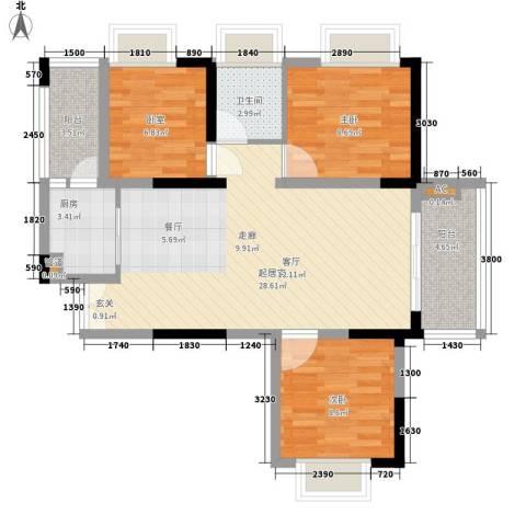 左岸美邻2室0厅1卫1厨94.00㎡户型图