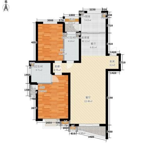 天嘉水晶城2室0厅2卫1厨126.00㎡户型图