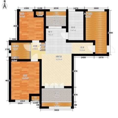 绿地公园壹品2室0厅1卫1厨93.00㎡户型图